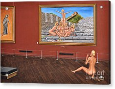 After Hours Op. 23 No. 7 Acrylic Print by CH Narrationism