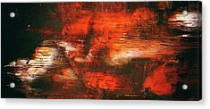 After Midnight - Black Orange And White Contemporary Abstract Art Acrylic Print