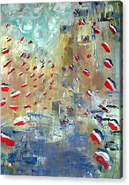 After Monet's Rue Montorgueil Acrylic Print by Michela Akers