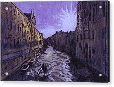 After Rio Dei Mendicanti Looking South Acrylic Print by Hyper - Canaletto