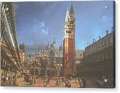 After St. Mark's Square Acrylic Print by Hyper - Canaletto