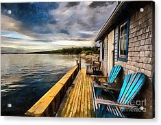 Acrylic Print featuring the digital art After Sunset by Eva Lechner