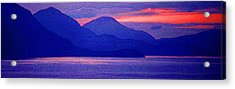 After Sunset Mountains 5 Pd Acrylic Print by Lyle Crump