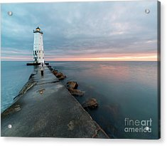 After Sunset On The Pier Acrylic Print