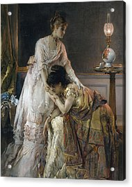 After The Ball Acrylic Print by Alfred Emile Stevens