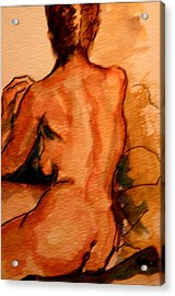 After The Bath Acrylic Print by Dan Earle