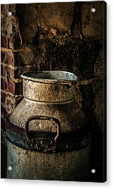 Acrylic Print featuring the photograph After The Cows Have Gone by Odd Jeppesen