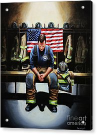 After The Fire Acrylic Print by Paul Walsh