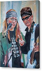 After The Gig Acrylic Print by Gail Zavala