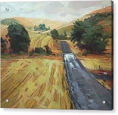 After The Harvest Rain Acrylic Print