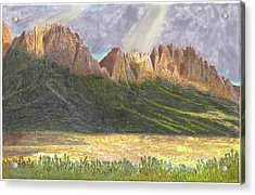 After The Monsoon Organ Mountains Acrylic Print by Jack Pumphrey