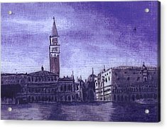 After The Pier At San Marco Acrylic Print by Hyper - Canaletto