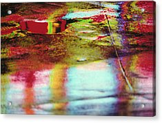 After The Rain Abstract 2 Acrylic Print by Tony Cordoza