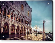 Acrylic Print featuring the photograph After The Rain At St. Mark's by Andrew Soundarajan
