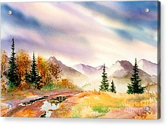 Acrylic Print featuring the painting After The Rain by Teresa Ascone
