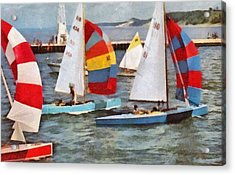 Acrylic Print featuring the photograph After The Regatta  by Michelle Calkins