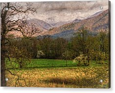 Acrylic Print featuring the photograph After The Spring Rain by Rebecca Hiatt