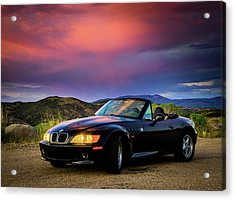 After The Storm - Bmw Z3 Acrylic Print