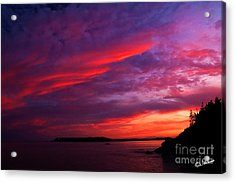Acrylic Print featuring the photograph After The Storm Sunset by Alana Ranney