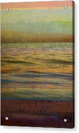 Acrylic Print featuring the photograph After The Sunset - Teal Sky by Michelle Calkins