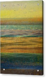 Acrylic Print featuring the photograph After The Sunset - Yellow Sky by Michelle Calkins