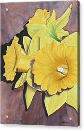 After The Tulips Acrylic Print by Robert Thomaston