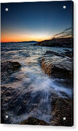 Afterglow At Schoodic Point  Acrylic Print by Rick Berk