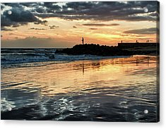 Afterglow Fishing Acrylic Print by Marc Huebner