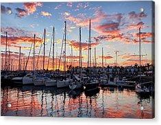 Afterglow In Puerto De Mogan Acrylic Print by Marc Huebner