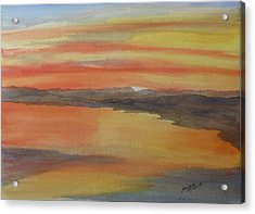Acrylic Print featuring the painting Afterglow by Joel Deutsch