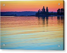 Afterglow On Johns River Acrylic Print by Rick Berk