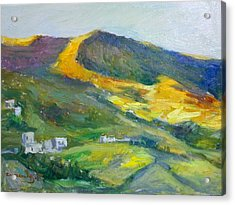 Afternoon Amorgos Acrylic Print by George Siaba