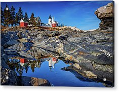 Afternoon At Pemaquid Point Acrylic Print by Rick Berk