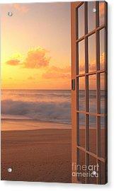 Afternoon Beach Scene Acrylic Print by Dana Edmunds - Printscapes
