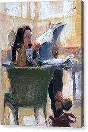 Afternoon Coffee Break Acrylic Print by Merle Keller