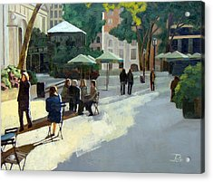 Afternoon In Bryant Park Acrylic Print