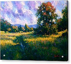Afternoon In Dutchess County Acrylic Print by Gene Cadore