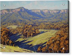 Afternoon Light Megalong Valley Acrylic Print by Graham Gercken
