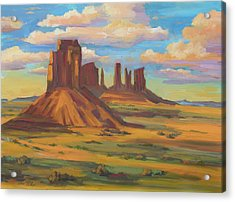 Acrylic Print featuring the painting Afternoon Light Monument Valley by Diane McClary
