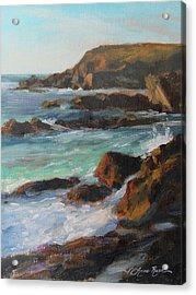 Afternoon Light Point Lobos Acrylic Print by Anna Rose Bain