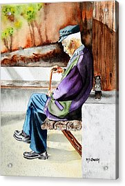 Afternoon Nap Acrylic Print by Maria Barry