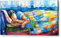 Afternoon Nap Acrylic Print by Trudi Doyle