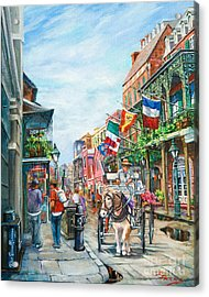 Afternoon On St. Ann Acrylic Print by Dianne Parks