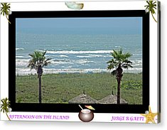 Afternoon On The Island A Poster Acrylic Print by Jorge Gaete