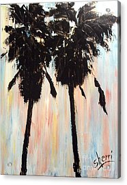 Afternoon Palms Acrylic Print by Sherri Wimberly