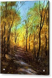Acrylic Print featuring the painting Afternoon Road by Sergey Zhiboedov