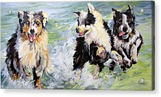 Afternoon Romp Acrylic Print by Rae Andrews