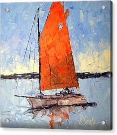 Afternoon Sail Acrylic Print by Leslie Saeta