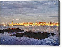 Afternoon Sun On Marblehead Neck Acrylic Print