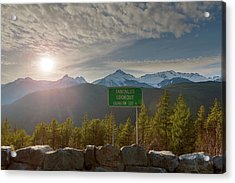 Afternoon Sun Over Tantalus Range From Lookout Acrylic Print